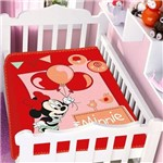 Cobertor Menina Jolitex Disney Baby Minnie Festa Balão Vermelho