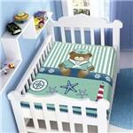 Cobertor Menino Baby Jolitex Trad Ursinho Marinheiro Verde