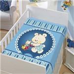 Cobertor Menino Baby Jolitex Tradicional Mamãe e Filhinho Azul