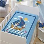 Cobertor Menino Baby Jolitex Tradicional os Marinheiros Azul