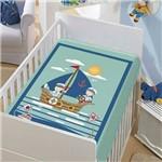 Cobertor Menino Baby Jolitex Tradicional os Marinheiros Verde