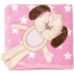 Cobertor para Bebes Baby Joy Cachorrinha Estrela Rosa