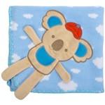 Cobertor para Berço Bordado 100% Algodão - Coala Nuvem Azul