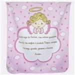 Cobertor para Berço Feminino Rosa 1 Anjinho da Guarda
