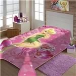 Cobertor Solteiro Jolitex Raschel Infantil Sininho Rosa