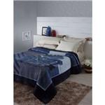 Cobertor Tradicional Casal Estampa Tramore Azul- Jolitex