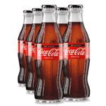 Coca-Cola Perfeita Sem Açúcar - Vidro 250ml (pack 6 Unidades) Combo com 6 Garrafas 250 ML