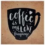 Coffee Language Quadro 21 Cm X 21 Cm Marrom/preto