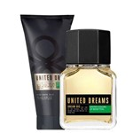 Coffret Benetton United Dreams Big Men Eau de Toilette Masculino 100 Ml + Loção Pós Barba 75 Ml