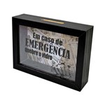 Cofre Moedas Emergencia 17x12 Cm