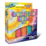 Cola Crystal Relevo Jelly - 6 Cores