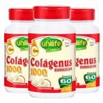 Colágeno Hidrolisado 1000mg - 3x de 60 Comprimidos - Unilife