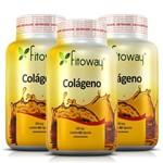Colágeno Hidrolisado Fitoway 300mg - 3 Potes 60 Cáps