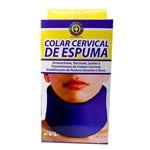 Colar Cervical Azul de Espuma Tamanho M
