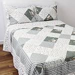 Colcha King Boutis Ana Clara com 2 Porta Travesseiros - Casa & Conforto