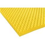 Colchonete Paropas Perfilado Amarelo - Solteiro - 0,76x1,86x0,05