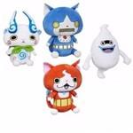 Coleção 4 Pelúcias Yo-kai Watch Jibanyan Whisper Komasan Yokai Hasbro - Suika