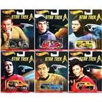 Coleção Hot Wheels Star Trek com 6 Carros - Mattel Dlb45