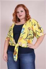Colete Estampado Plus Size Amarelo PP