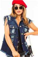Colete Feminino Jeans Destroyed CT0081 - Kam Bess