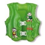 Colete Inflável Turma da Mônica Mor Verde