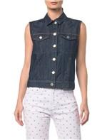 Colete Jeans - Azul Marinho - P