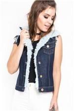 Colete Jeans Detalhes de Pele CT0070 - G