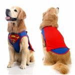 Colete Super Homem Simples - Sula Pet - Liga Justiça P