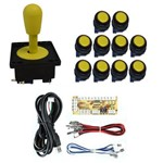 Comando Aegir 10 Botões Corpo Preto Placa Zero Delay Amarelo