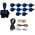 Comando Aegir 10 Botões de Nylon Placa Zero Delay - Azul