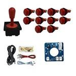 Comando Aegir Magnético 10 Botões Nylon Zero Delay -Vermelho