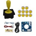Comando Magnético 10 Botões Corpo Branco Zero Delay- Amarelo