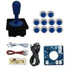 Comando Magnético 10 Botões Corpo Branco Zero Delay - Azul