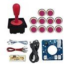Comando Magnético 10 Botões Corpo Branco Zero Delay - Rosa