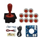 Comando Magnético 10 Botões Corpo Branco Zero Delay Vermelho