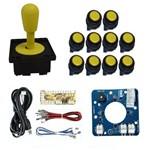 Comando Magnético 10 Botões Corpo Preto Zero Delay - Amarelo