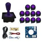 Comando Magnético 10 Botões Corpo Preto Zero Delay - Roxo