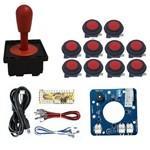 Comando Magnético 10 Botoes Corpo Preto Zero Delay- Vermelho