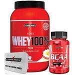 Combo 100% Whey Baunilha + Bcaa 2:1:1 + Porta Caps - Integralmédica
