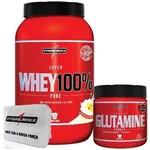 Combo 100% Whey Baunilha + Glutamina + Porta Caps - Integralmédica