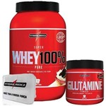 Combo 100% Whey Cookies + Glutamina + Porta Caps - Integralmédica