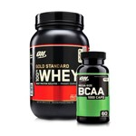 Combo: 100% Whey Gold Standard - 900g + Bcaa 60caps - Optimum Nutrition