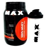 Combo 100% Whey Max Titanium (Morango) 900gr + Super Coqueteira