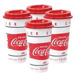 Combo 4 Copos com Tampa Bico Coca-Cola 500ml