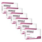 Combo 6 Unidades Emagrecedor Monaliz Meu Controle - Sanibras - 30 Comprimidos Cada