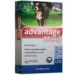 Combo Advantage Max3 4ml para Cães Acima de 25 Kg 3 Pipetas