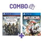 Combo Assassins Creed Unity + Battleborn - PS4