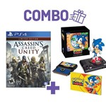 Combo Assassins Creed Unity + Sonic Mania Collectors Edition - Ps4