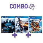 Combo Battlefield 4 + Just Cause 3 + Need For Speed - PS4