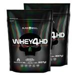 Combo Black Skull (2 Unidades Whey Protein Refil Whey 4HD - Black Skull - 837grs)